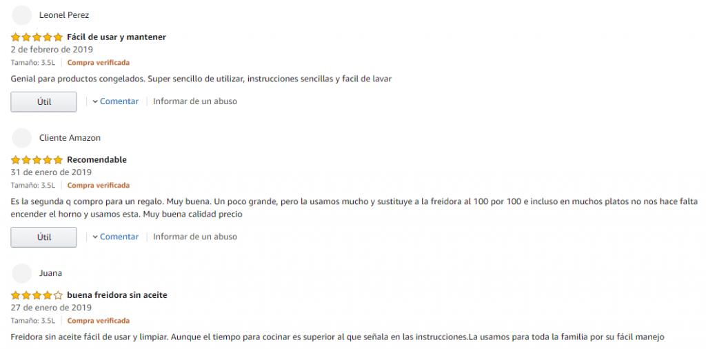 valoraciones de compradores de freidoras aicok