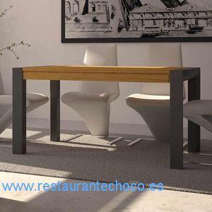 comprar mesas de comedor madera y cristal